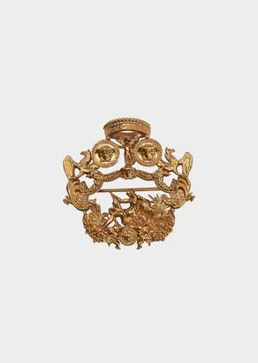 Versace Blasone Barocco Pendant Pin