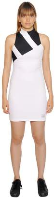 adidas Stretch Mesh Intarsia Stripe Dress