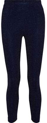By Malene Birger Ittona Metallic Stretch-Knit Leggings
