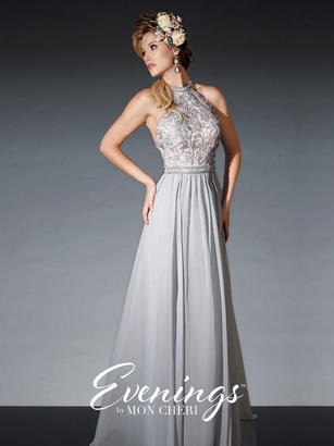 Mon Cheri TB Evenings by Mon Cheri - TBE21507 Long Dress In Silver $466 thestylecure.com