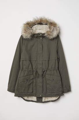 H&M H&M+ Pile-lined Parka - Green