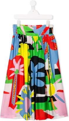Stella McCartney TEEN palm print skirt