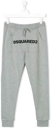 DSQUARED2 TEEN logo print track pants