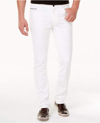 Calvin Klein Jeans Men's Slim-Straight Fit Stretch White Jeans