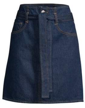 3x1 Kelly Denim Paperbag Mini Skirt