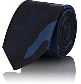 Valentino Men's Camouflage Silk Twill Necktie - Navy