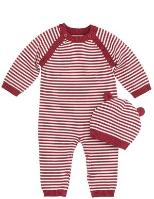 Elegant Baby Red and White Coverall