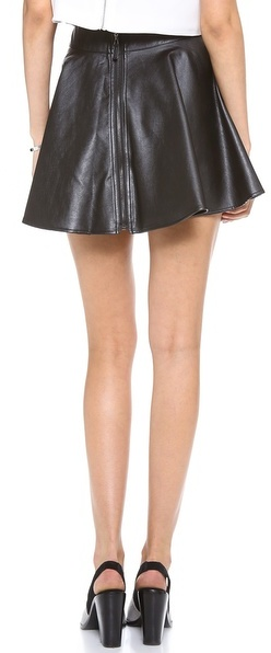 By Chance Kelly Faux Leather Skirt