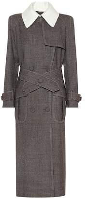 Fendi Houndstooth cotton-blend coat