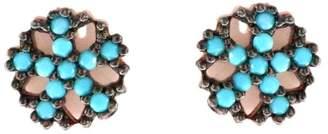 Wild Hearts - Turquoise Mandala Ear Studs