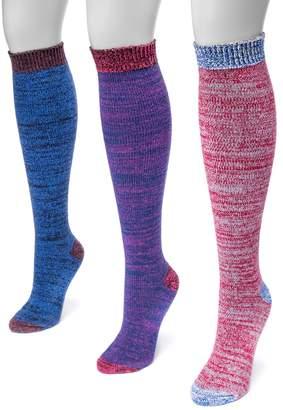 Muk Luks Women's 3-pk. Microfiber Knee High Socks