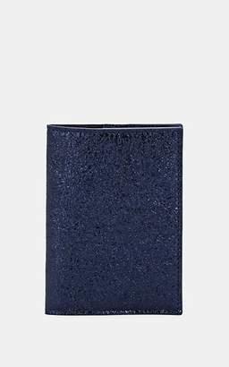 Barneys New York Men's Crinkled Leather Passport Case - Navy