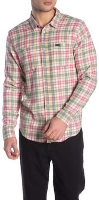 RVCA Diffusion Plaid Flannel Regular Fit Shirt