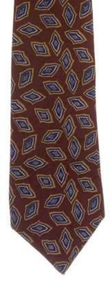 Chanel Printed Silk Tie brown Printed Silk Tie