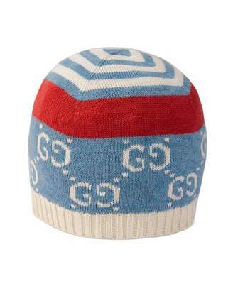 Gucci Babies' GG Printed Knit Beanie Hat, Size S-L