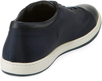 Giorgio Armani Men's Leather Lace-Up Sneakers