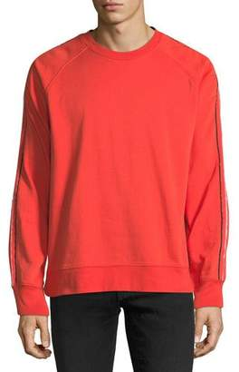 7 For All Mankind Men's Striped-Sleeve Sweatshirt