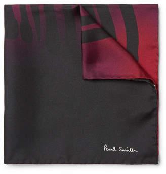 Paul Smith Printed Dégradé Silk Pocket Square