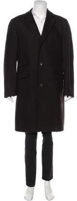 Burberry Herringbone Wool & Cashmere-Blend Overcoat