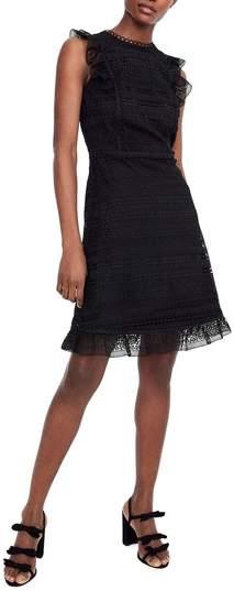 J. CREW Cap Sleeve Ruffle Lace Dress