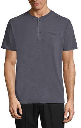 Claiborne Short Sleeve Henley Shirt