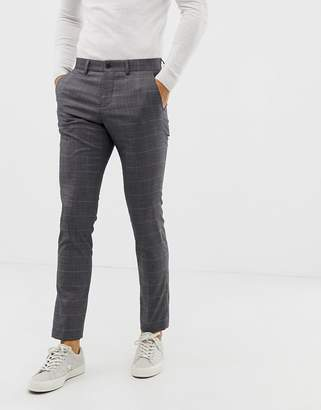 suit trousers in grey check