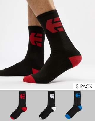 Etnies 3Pk Socks in Black