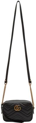 Gucci Black Mini GG Marmont 2.0 Camera Bag $980 thestylecure.com