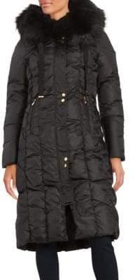 Via Spiga Faux Fur-Trimmed Down Coat