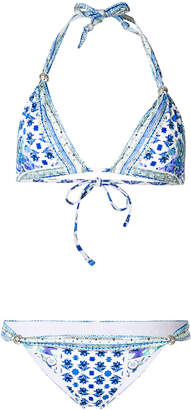 Camilla Salvador Summer multiprint triangle bikini top