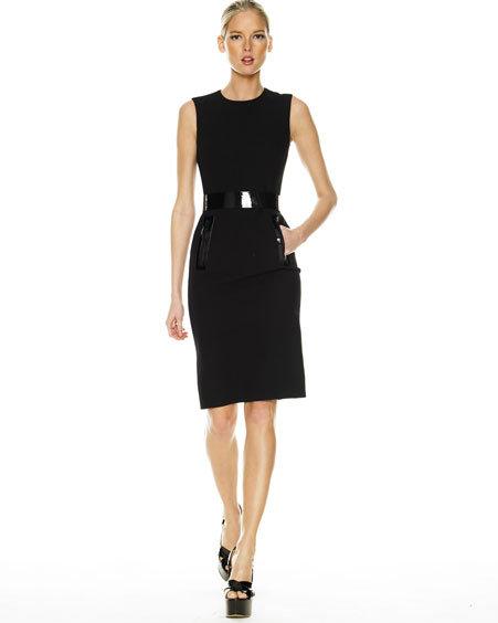 Michael Kors Sheath Dress, Black