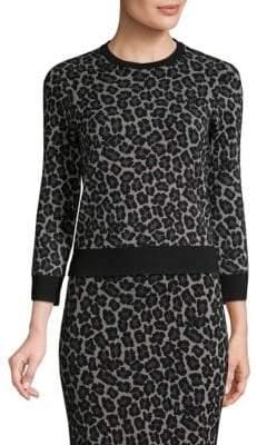 Michael Kors Leopard Print Pullover Sweater