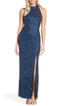 Adrianna Papell Beaded Column Evening Dress
