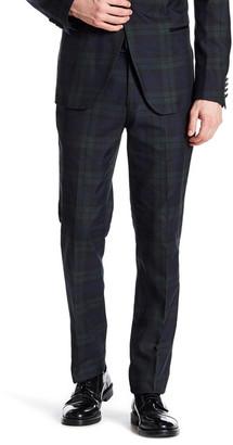 """Paisley & Gray Blue Plaid Flat Front Tux Trouser - 32\"""" Inseam $59.97 thestylecure.com"""