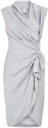 AllSaints Cancity Ruffle Wrap Dress