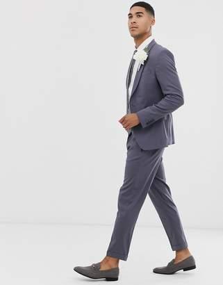 Asos Design DESIGN tapered crop suit pants in dusky purple