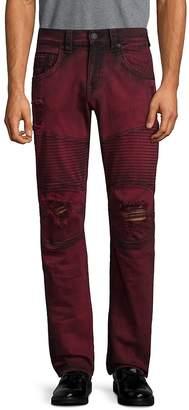 True Religion Men's Moto Skinny Run-Stitch Jeans