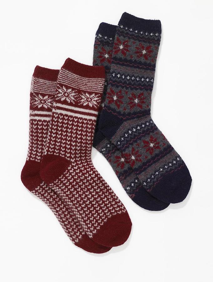 Fairisle trouser socks