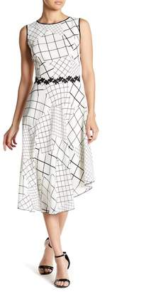 Blend of America Iren Klairie Crosshatch Sleeveless Silk Dress
