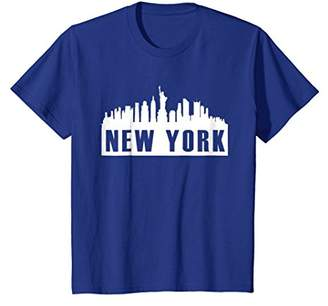 Cool New York City Skyline Tee Shirt Statue of Liberty Shirt