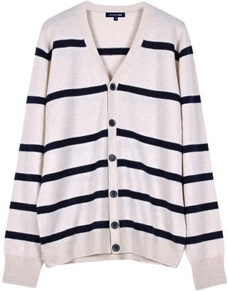 Cashmerism Nautical Stripe Cashmere Cardigan