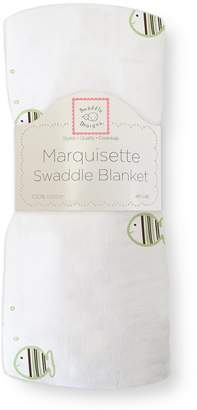 Swaddle Designs Marquisette Swaddling Blanket, Striped Fish, Kiwi
