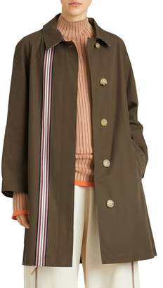 Burberry Eastborne Collegiate Stripe Car Coat
