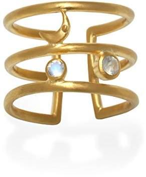 Satya Jewelry Moonstone Plate Moon Phase Adjustable Ring
