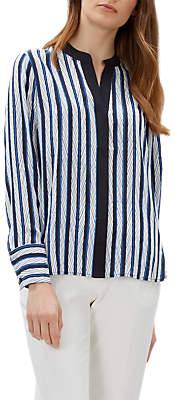2de1e3d9058d16 at John Lewis and Partners · Jaeger Silk Striped Shirt