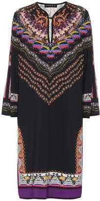 Etro Printed crepe dress