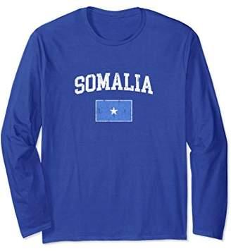 Vintage Somalia Flag Long Sleeve Shirt College Tee