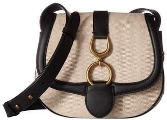 Lauren Ralph Lauren Barrington Saddle Crossbody Large Cross Body Handbags