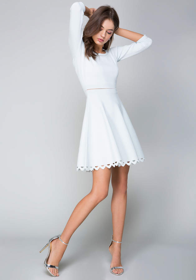 3/4 Sleeve Flared Dress
