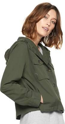 Popsugar Women's POPSUGAR Cropped Military Jacket